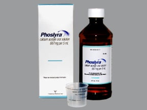 Phoslyra 667 mg (169 mg calcium)/5 mL oral solution