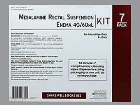 Mesalamine With Cleansing Wipes Rectal : Uses, Side Effects