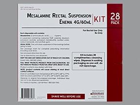 mesalamine rectal susp enema with cleansing wipes 4 gram/60 mL kit