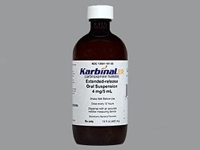 Karbinal ER 4 mg/5 mL oral suspension,extended release