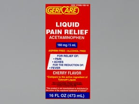 Pain Relief 160 mg/5 mL oral liquid