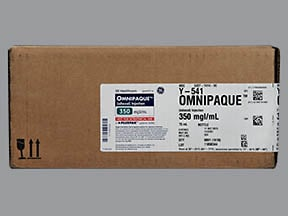 Omnipaque 350 350 mg iodine/mL intravenous solution