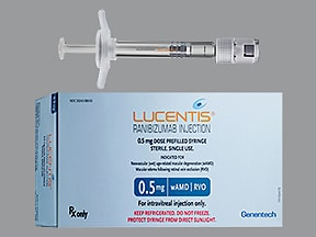 Lucentis 0.5 mg/0.05 mL intravitreal syringe