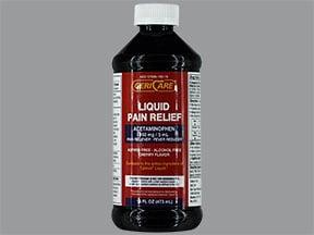Pain Relief (acetaminophen) 160 mg/5 mL oral liquid