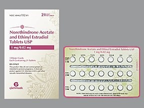 norethindrone acetate 1 mg-ethinyl estradiol 20 mcg tablet