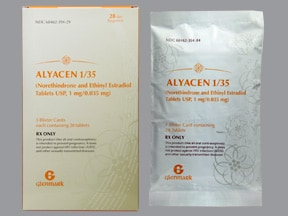Alyacen 1/35 (28) 1 mg-35 mcg tablet