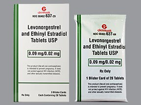 levonorgestrel-ethinyl estradiol 90 mcg-20 mcg tablet