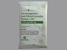 levonorgestrel-ethinyl estradiol 90 mcg-20 mcg (28) tablet