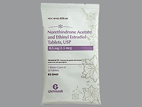norethindrone acetate-ethinyl estradiol 0.5 mg-2.5 mcg tablet
