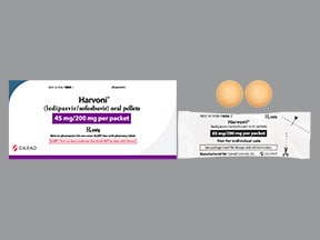 Harvoni 45 mg-200 mg oral pellets in packet