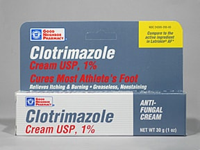 Antifungal (clotrimazole) 1 % topical cream