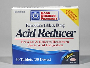 Acid Reducer (famotidine) 10 mg tablet