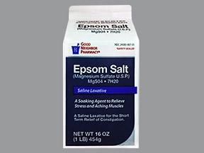 Epsom Salt 495 mg/5 gram oral granules