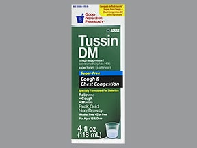 Tussin DM Clear 10 mg-100 mg/5 mL oral syrup