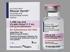 Rituxan Hycela 1,400 mg/11.7 mL (120 mg/mL) subcutaneous solution