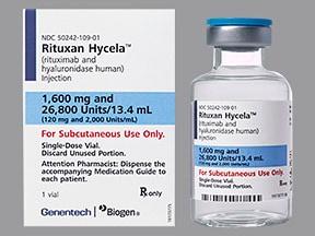 Rituxan Hycela 1,600 mg/13.4 mL (120 mg/mL) subcutaneous solution