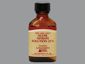 silver nitrate 25 % topical solution