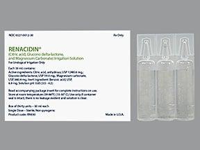 Renacidin 6.602 gram-3.268 gram/100 mL irrigation solution