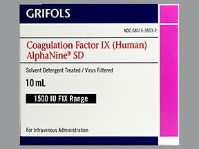 AlphaNine SD 1,500 (+/-) unit intravenous solution