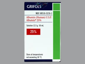 Albutein 25 % intravenous solution