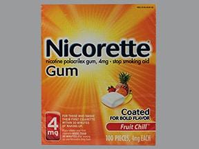 Nicorette 4 mg gum