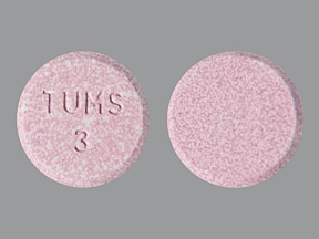 Tums Dual Action (famotidine) 10 mg-800 mg-165 mg chewable tablet