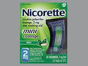 Nicorette 2 mg buccal mini lozenge