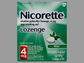 Nicorette 4 mg buccal lozenge