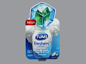 Tums Freshers 200 mg calcium (500 mg) chewable tablet