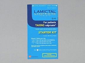Lamictal Starter (Blue) Kit 25 mg (35) tablets in a dose pack
