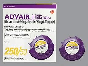 Advair Diskus 250 mcg-50 mcg/dose powder for inhalation