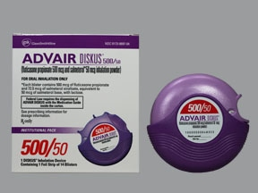 Advair Diskus 500 mcg-50 mcg/dose powder for inhalation