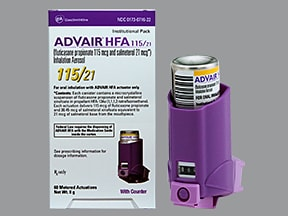 Advair HFA 115 mcg-21 mcg/actuation aerosol inhaler