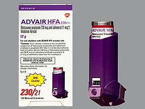 Advair HFA 230 mcg-21 mcg/actuation aerosol inhaler