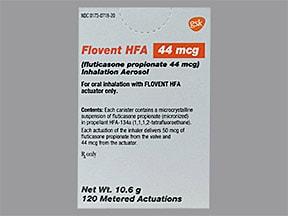 Flovent HFA 44 mcg/actuation aerosol inhaler