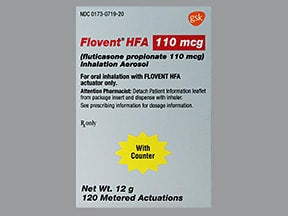 Flovent HFA 110 mcg/actuation aerosol inhaler