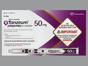 Tanzeum 50 mg/0.5 mL subcutaneous pen injector