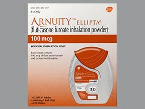 Arnuity Ellipta 100 mcg/actuation powder for inhalation