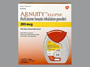 Arnuity Ellipta 200 mcg/actuation powder for inhalation