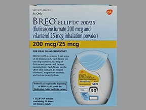 Breo Ellipta 200 mcg-25 mcg/dose powder for inhalation