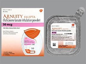 Arnuity Ellipta 50 mcg/actuation powder for inhalation