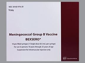 Bexsero 50 mcg-50 mcg-50 mcg-25 mcg/0.5 mL intramuscular syringe