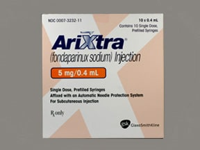 Arixtra 5 mg/0.4 mL subcutaneous solution syringe
