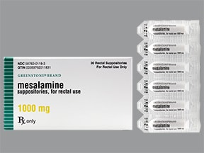 mesalamine 1,000 mg rectal suppository