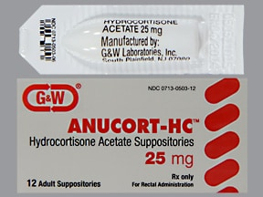 Anucort-HC 25 mg suppository