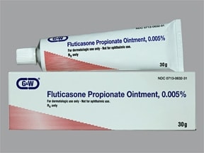fluticasone propionate 0.005 % topical ointment