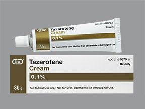 tazarotene 0.1 % topical cream