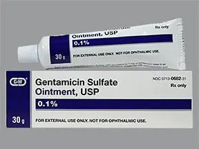 gentamicin 0.1 % topical ointment