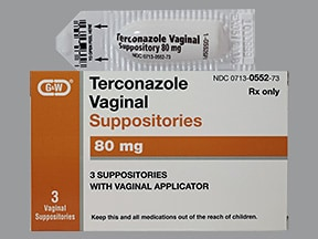 terconazole 80 mg vaginal suppository