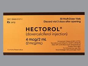Hectorol 4 mcg/2 mL intravenous solution